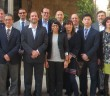 Nisha Mistry (front row, fifth from left) with other meeting attendees in Barcelona.