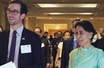 Matt Solomon '14 and Daw Aung San Suu Kyi