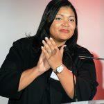 Alumna Marjorie de la Cruz '98, SVP and chief counsel at PepsiCo, served as master of ceremonies.