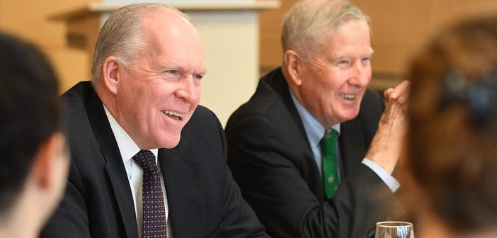 CIA Director Addresses Fordham Law's Presidential Succession Clinic