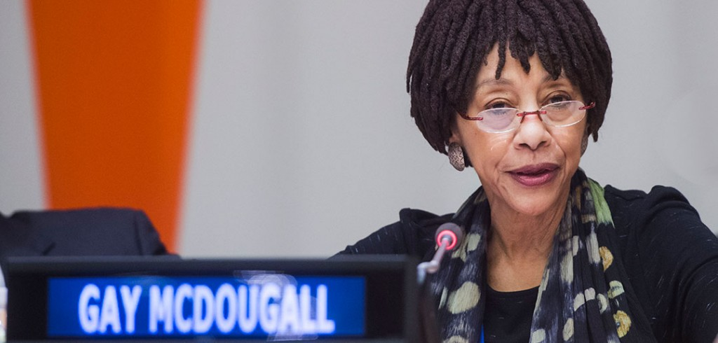 Gay McDougall at the United Nations