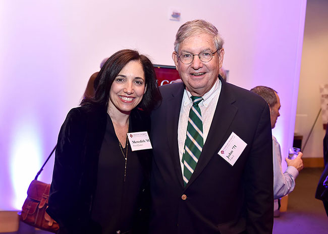 Meredith Fried Jones '01and John Fried '71