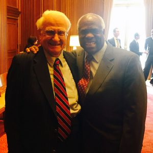 Professor Constantine Katsoris '57 with Supreme Court Justice Clarence Thomas