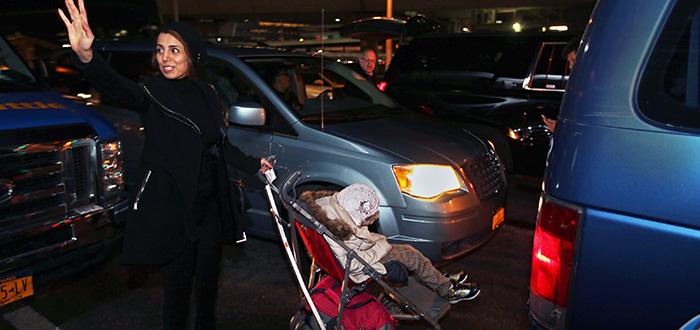 Fahimeh (Farimah) Kashkooli leaves airport with Alma