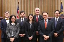 Fordham Law School co-sponsored an admission ceremony for the U.S. Court of International Trade on October 30