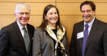 William Savino '74, Laurie Berke-Weiss '83, and Dean Matthew Diller