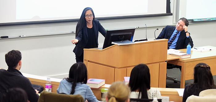 Judge Pamela K. Chen visited Professor Jed Shugerman's Torts class.