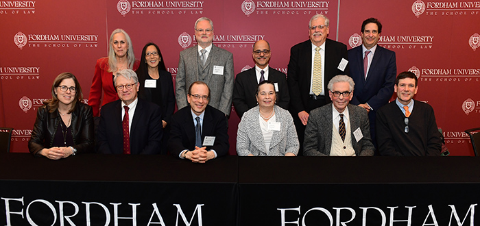 Dean Matthew Diller (standing, far right) with judges from the EDNY.
