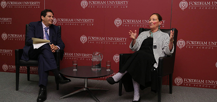 Matthew Diller and Justice Rosalie Silberman Abella
