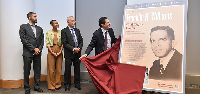 Alumni of Distinction ceremony honoring Franklin Williams '45