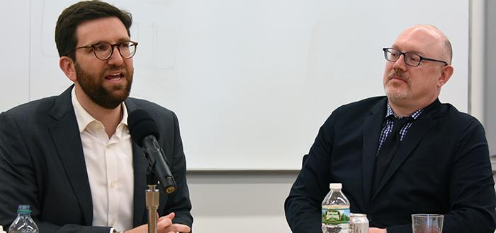Joseph Tartakovsky '11 and Professor Andrew Kent