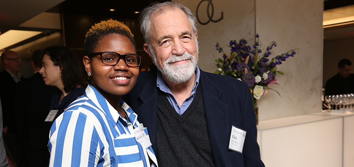 1L Stein Scholar Yazmine Nichols and Professor Brian Glick