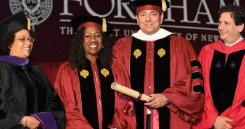 Gemma Solimene, Sherrilyn Ifill, Vincent Cappucci '84, and Matthew Diller