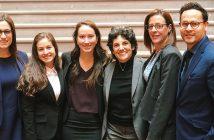 Gabrielle (Gaby) Kornblau, Jessie Boas, Elaina Aquila, Professor Elizabeth Cooper, Professor Elizabeth Maresca, and Emerson Argueta