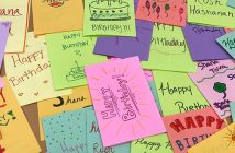 Birthday cards for seniors sponsored by Latin American Law Students Association