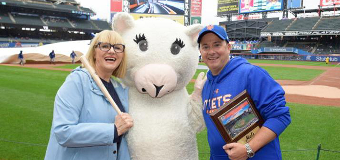 The Loukoumi Foundation was designated the nonprofit of the game at the Mets' Citifield on September 9. Photo by Jillian Nelson.