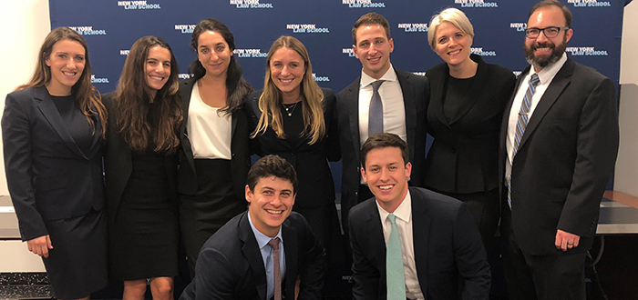 Fordham DRS team that competed at the ABA Negotiation Competition