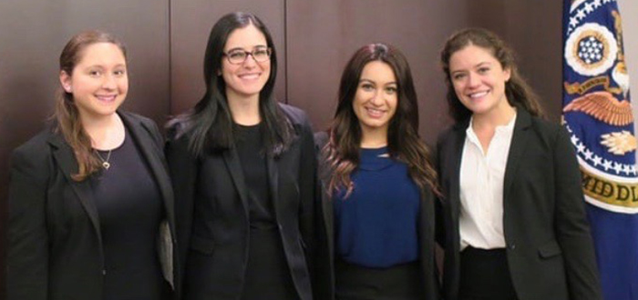 Christina Costello, Eliza Barrocas, Juliana Suleymanov, and Caitlin Hickey