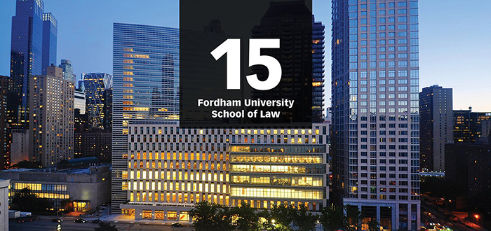 Law School Ranking >> Fordham Law Ranked 15 Go To Law School By National Law