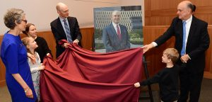Former Dean Michael M  Martin Honored with Official Portrait