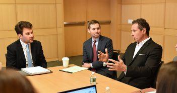 CNN Anchor Chris Cuomo Visits Fordham Law's Democracy Clinic